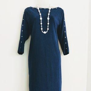 Karen Scott Knit Dress Navy Size Large